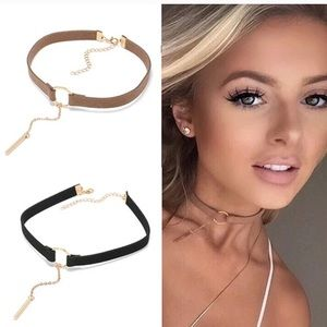 🔸Pretty Suede Choker Necklace🔸 TAN COLOR ONLY